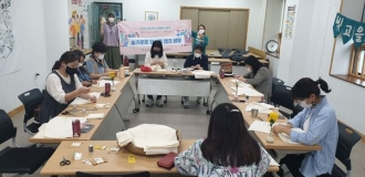 양산동자원봉사캠프 손수건만들기 활동