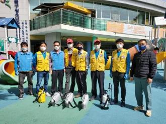 재난대응 봉사단 방역활동