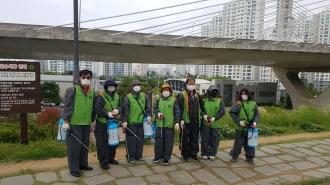 북구자율방재단 봉사단 문화동 방역활동